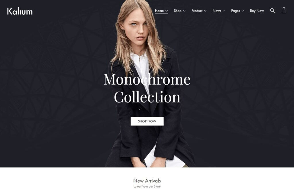 kalium Full Screen eCommerce WordPress Theme