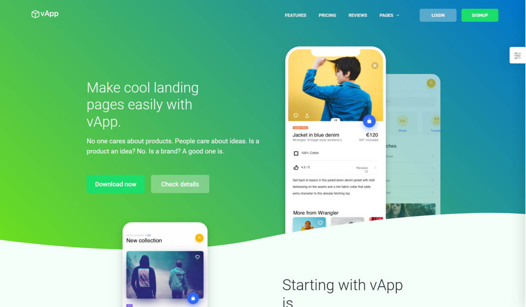 vApp WordPress Landing Page Theme