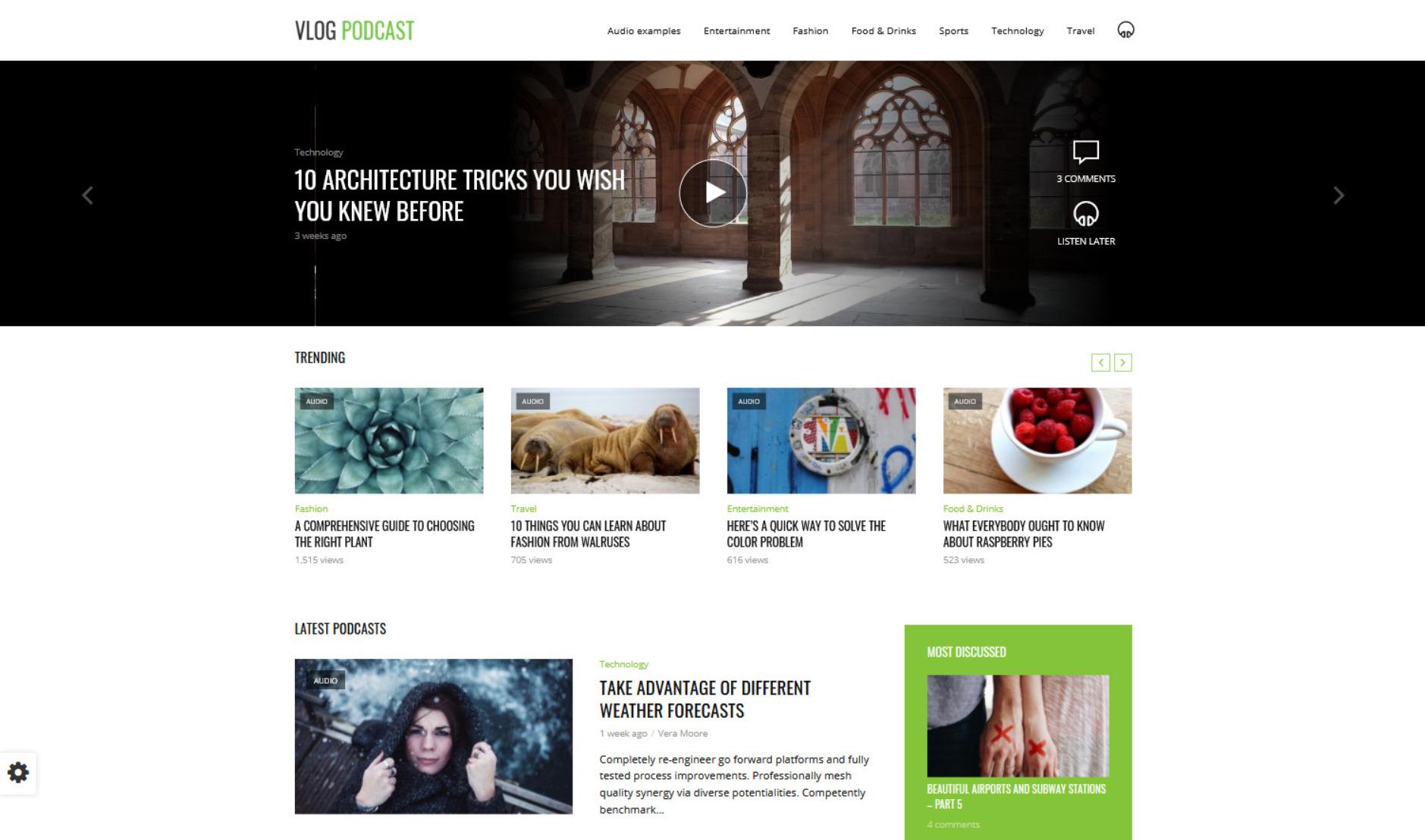 vLog WordPress Video Blog and Podcasting Theme