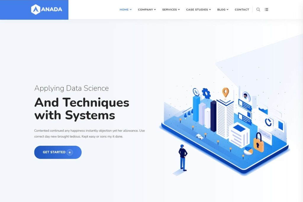 Anada Data Science Analytics Saas WordPress Theme Preview ThemeForest