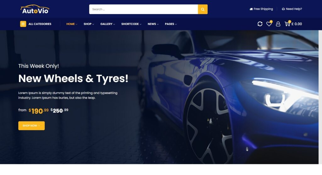 Autovio WordPress Automotive Services Theme