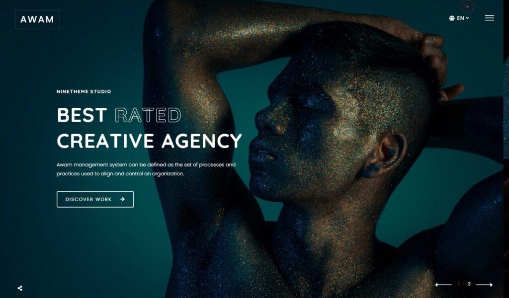 Awam Creative Agency and Portfolio WordPress Theme