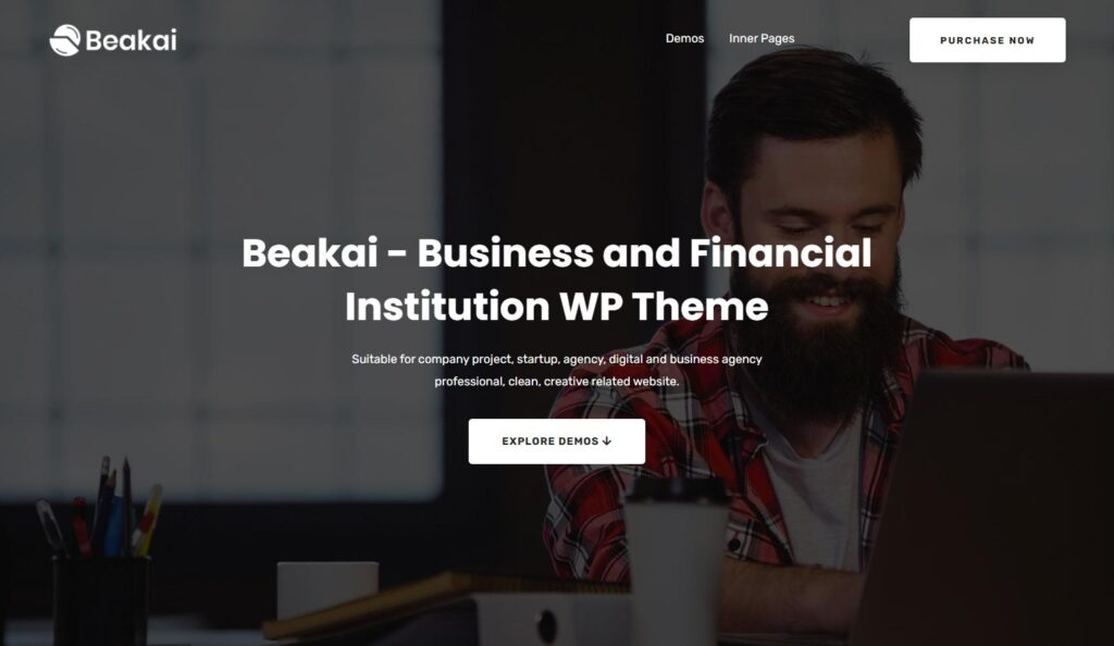 Beakai Business and Financial Institution WP Theme