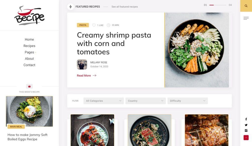 Becipe Food Recipes WordPress Theme