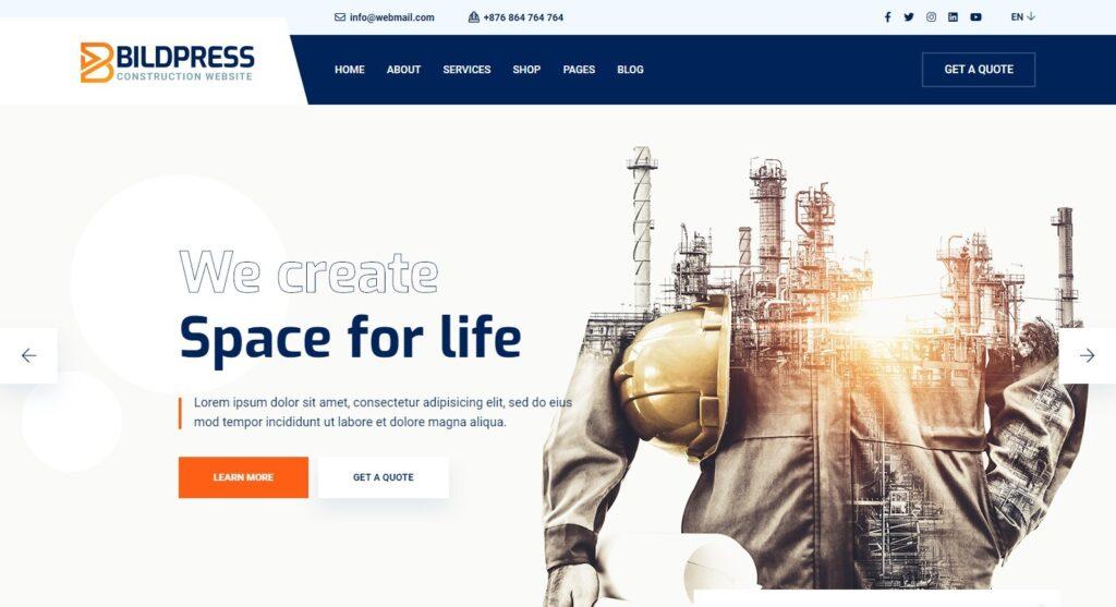BildPress Construction Company WordPress Themes