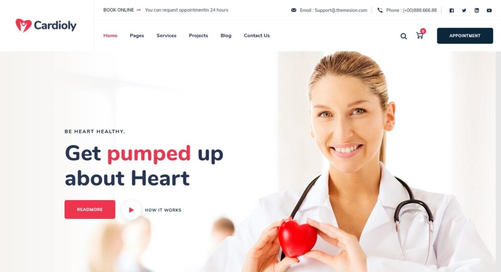 Cardioly Heart and Medical WordPress Theme