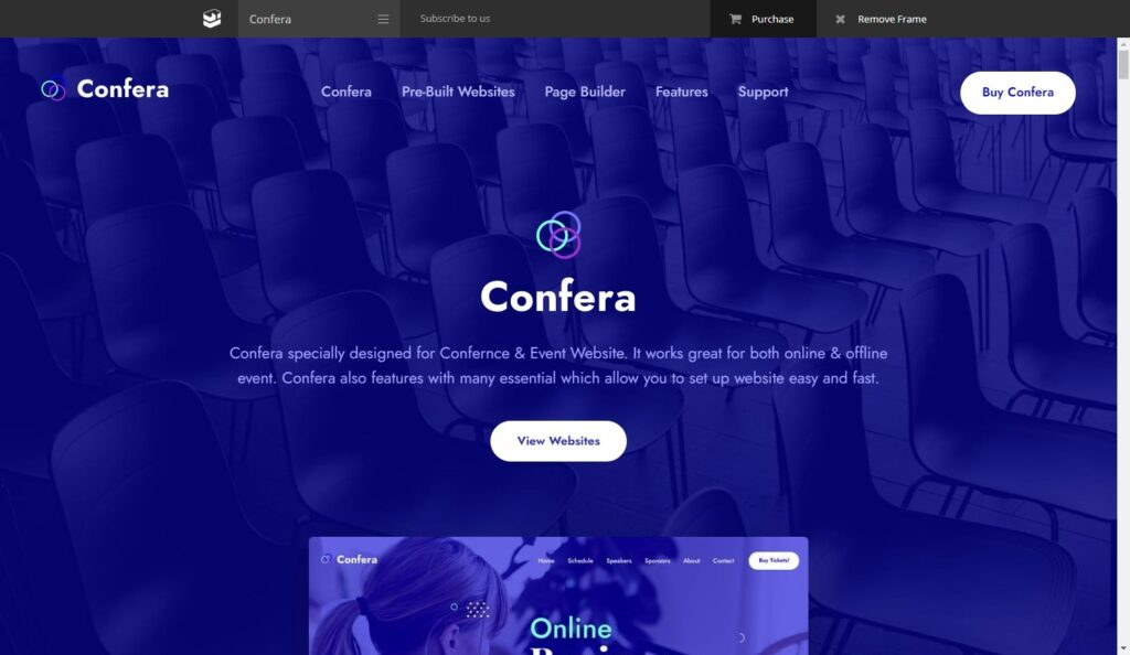 Confera WordPress Theme for Conferences and Events
