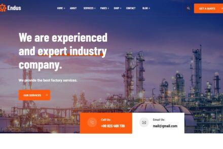 Construction Company WordPress Themes
