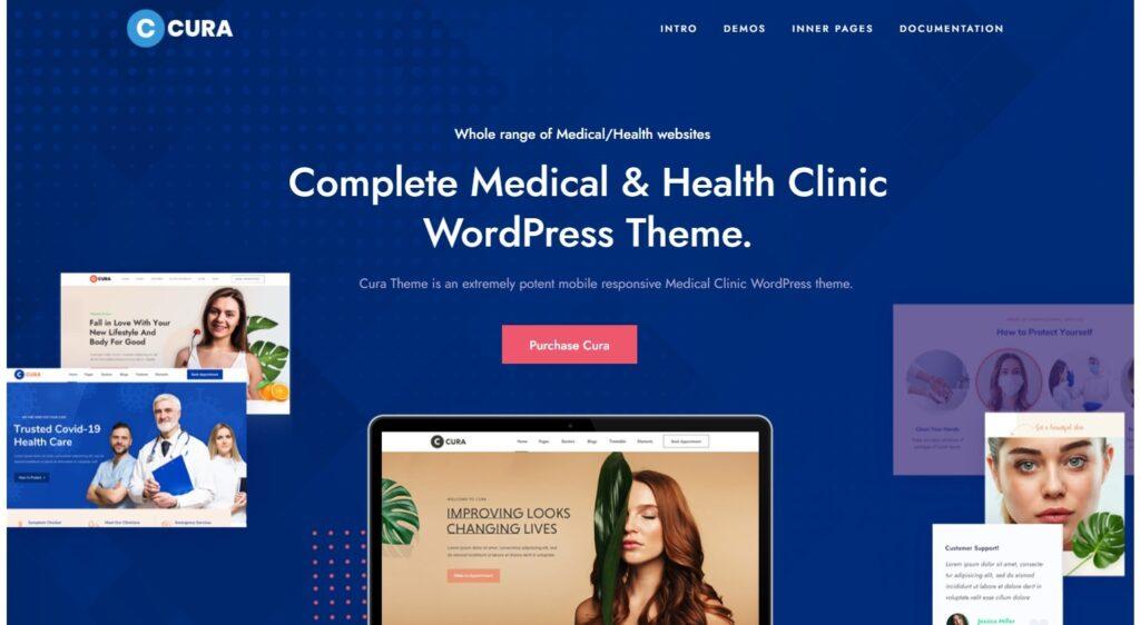 Cura HealthCare WordPress Theme