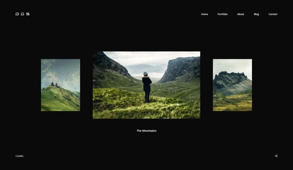Dos Creative and Unique Photography Portfolio Theme