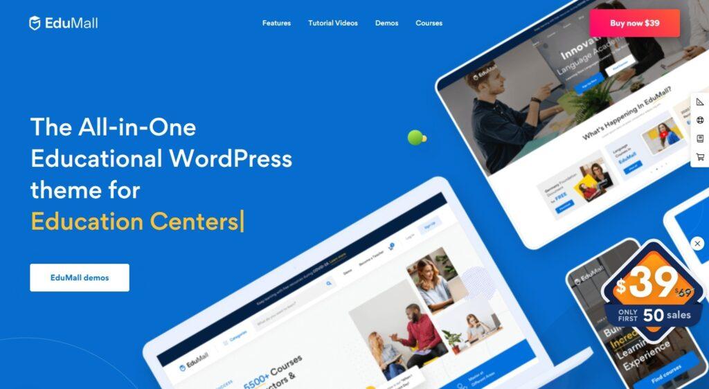 EduMall Online Learning and Education WordPress Theme