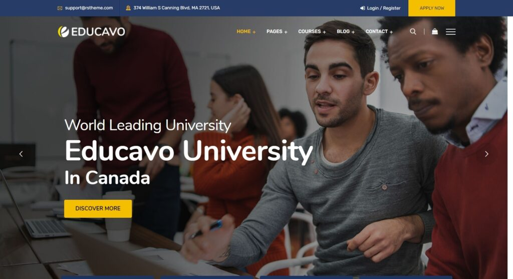 Educavo Online Learning and LMS WP Theme