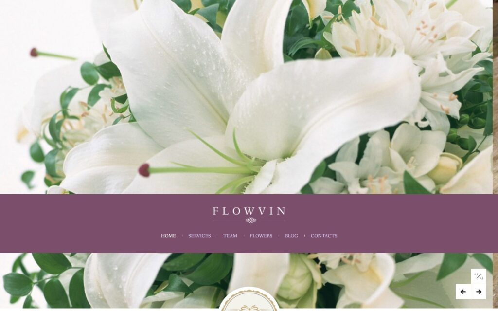 Flowvin WordPress Theme for Florists