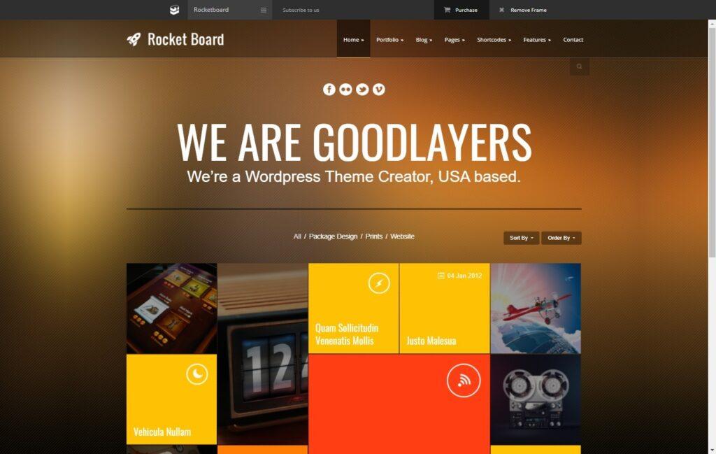 GoodLayers Theme Rocketboard