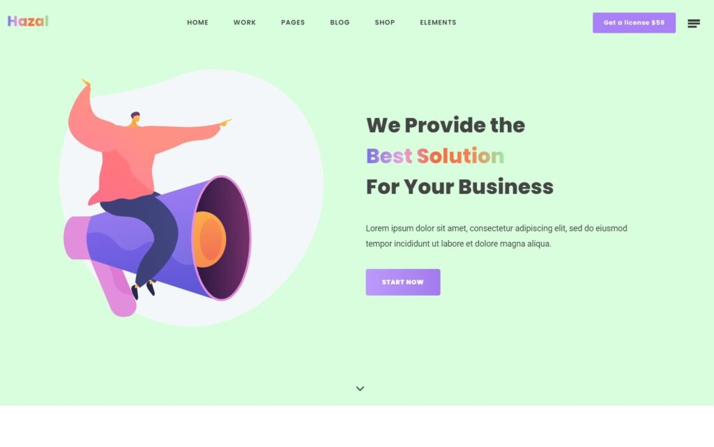 Hazal – A Tech Agency WordPress Theme