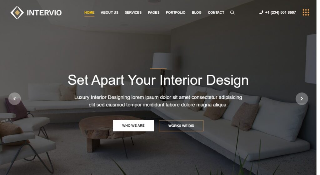 Intervio WordPress Theme for Architecture Firms