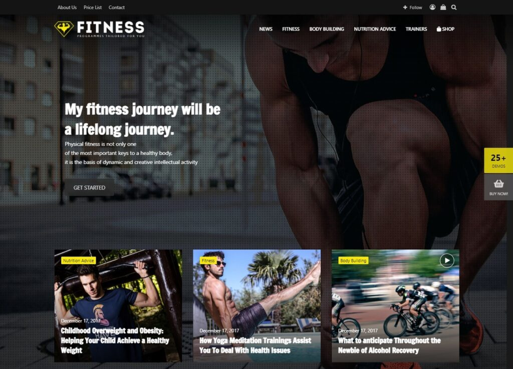 Jannah Fitness – Just another TieLabs Themes Sites site