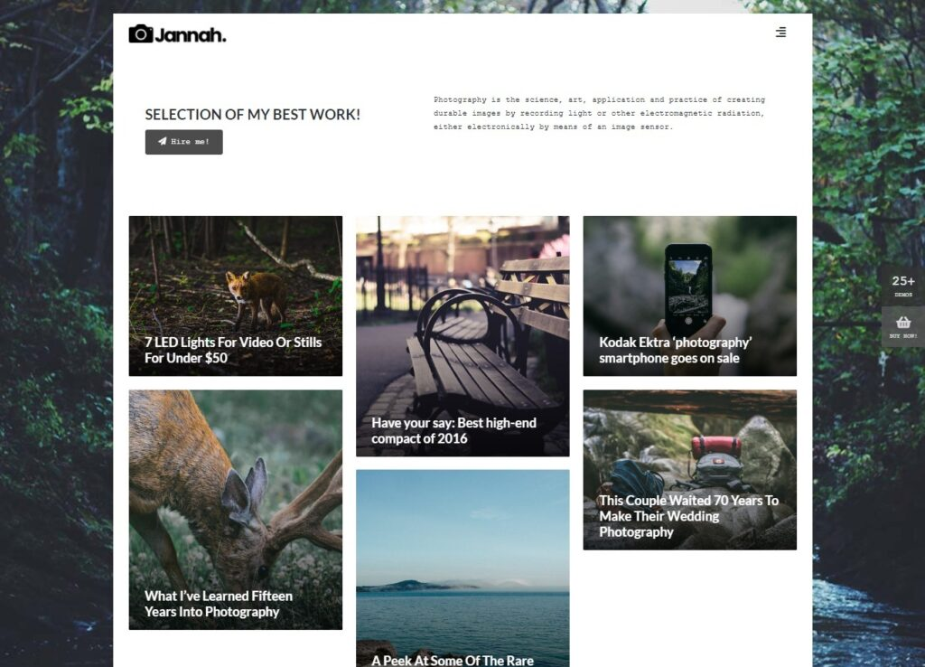 Jannah Photography – Blog Magazine Newspaper buddyPress Theme