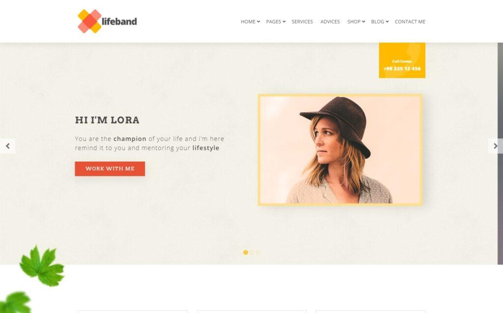 Lifeband Life Coach WordPress Theme