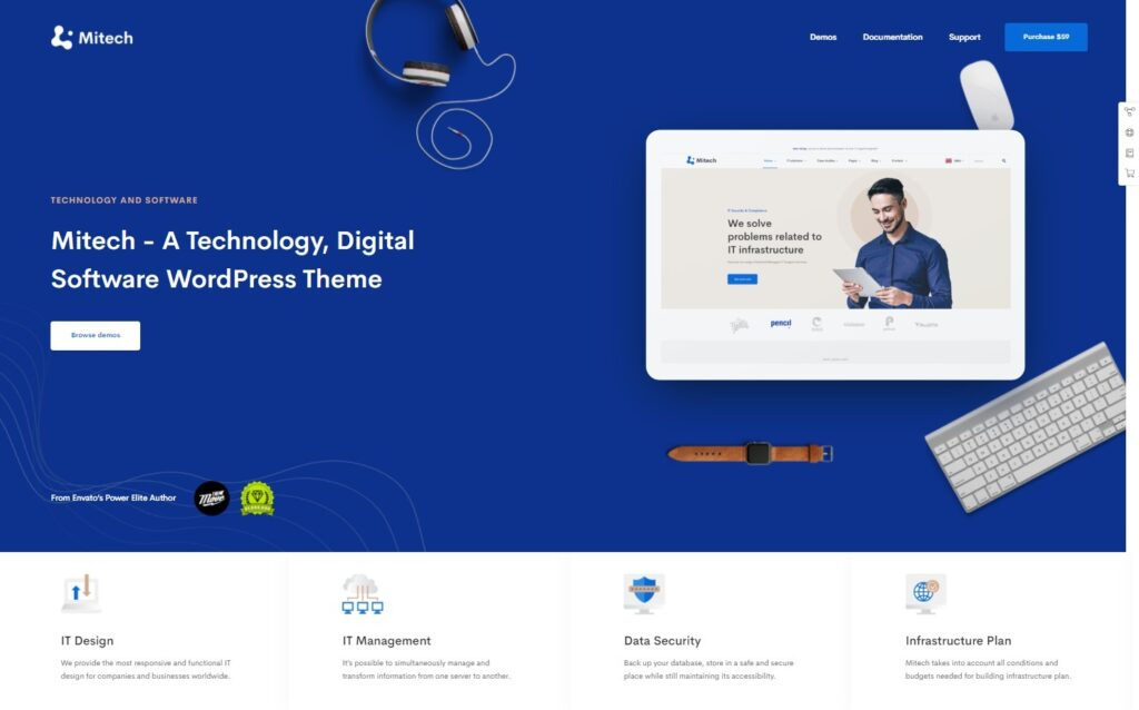 Mitech – WP Multipurpose Theme – for IT Solutions and Services Company