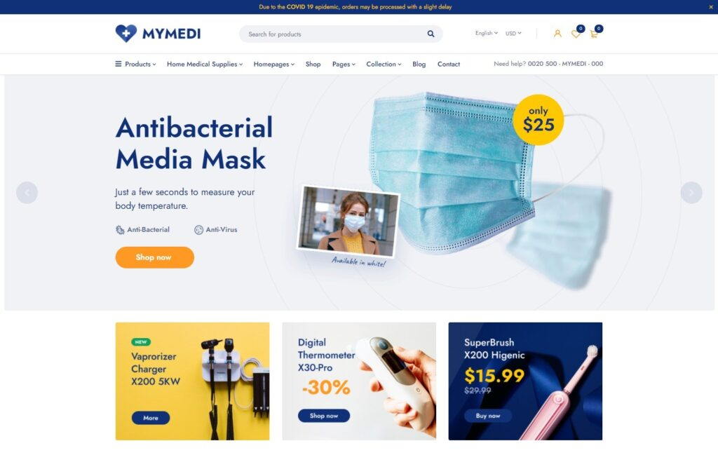 MyMedi – Medical Store WooCommerce WordPress Theme