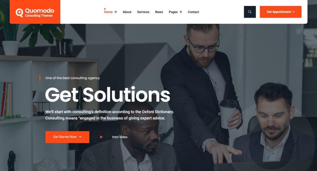Qmodo Business Consulting WordPress Theme