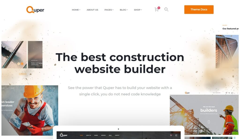 Quper Construction Company and Architecture WP Theme
