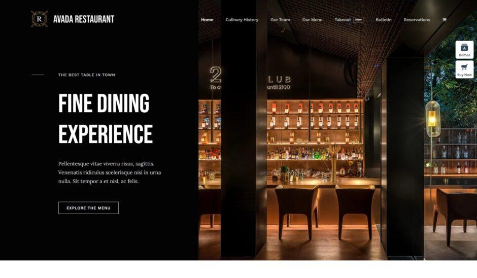 Restaurant – Avada Website Builder For WordPress WooCommerce