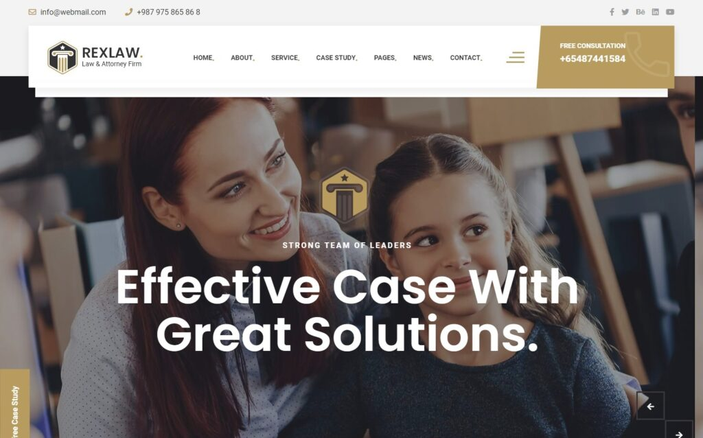 RexLaw, WordPress Theme for Law Firms