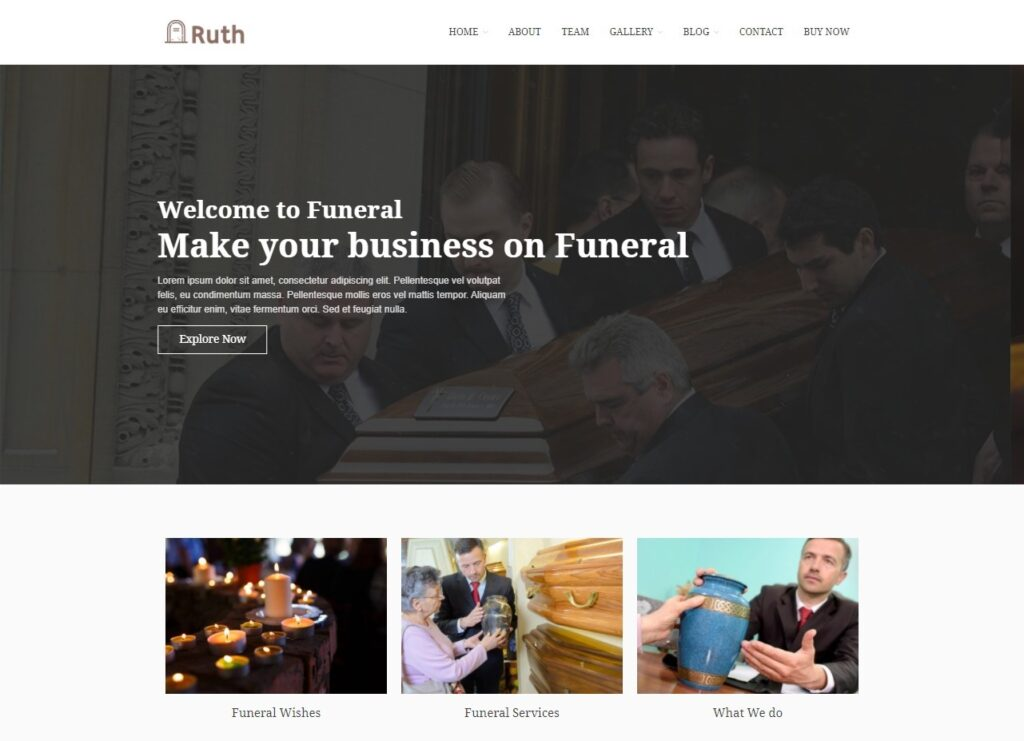Ruth – Funeral Services WordPress Theme