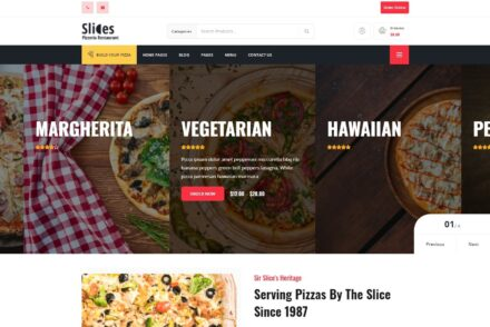 Slices – Pizza Restaurant WordPress Theme