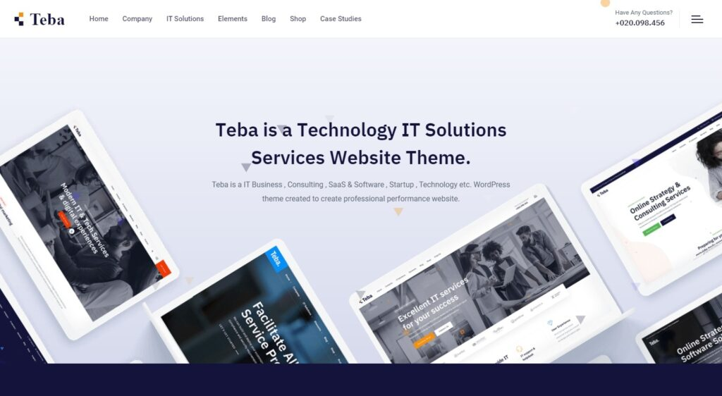 Teba WordPress Theme for IT and Tech Services