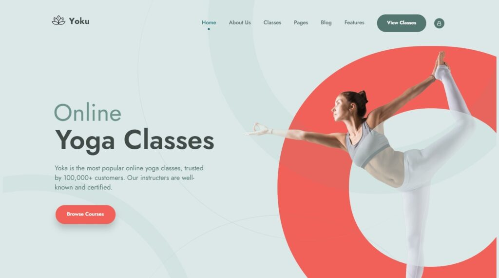 Yoku Yoga Studio WordPress Themes