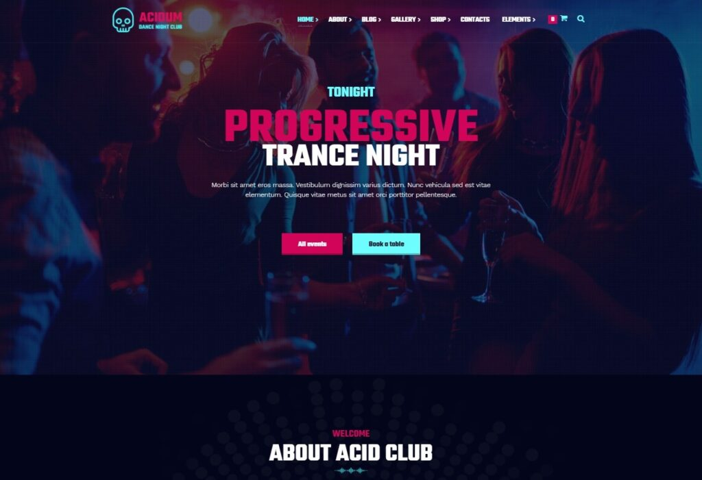 Acidum Night Club and DJ WordPress Theme