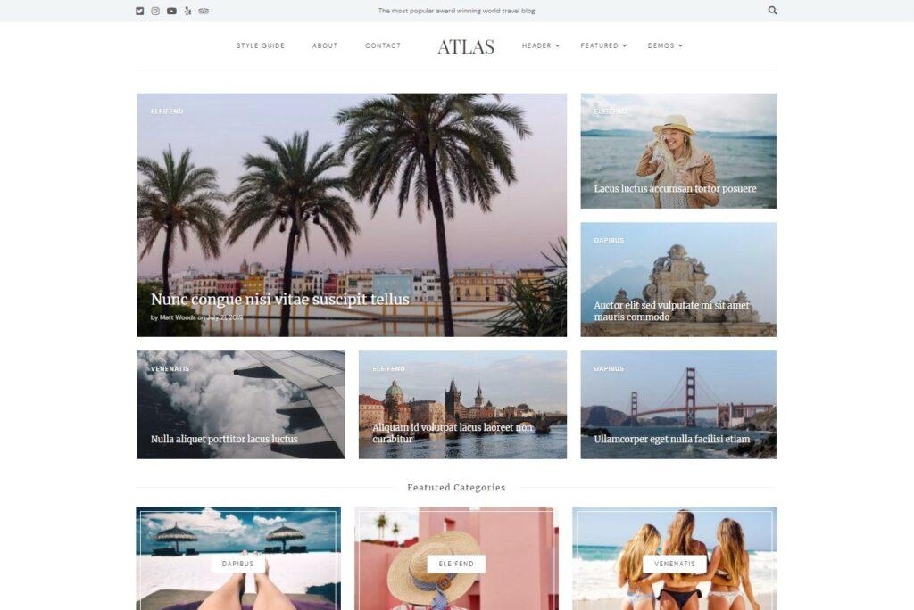 Aena Content Focused WordPress Theme Preview ThemeForest