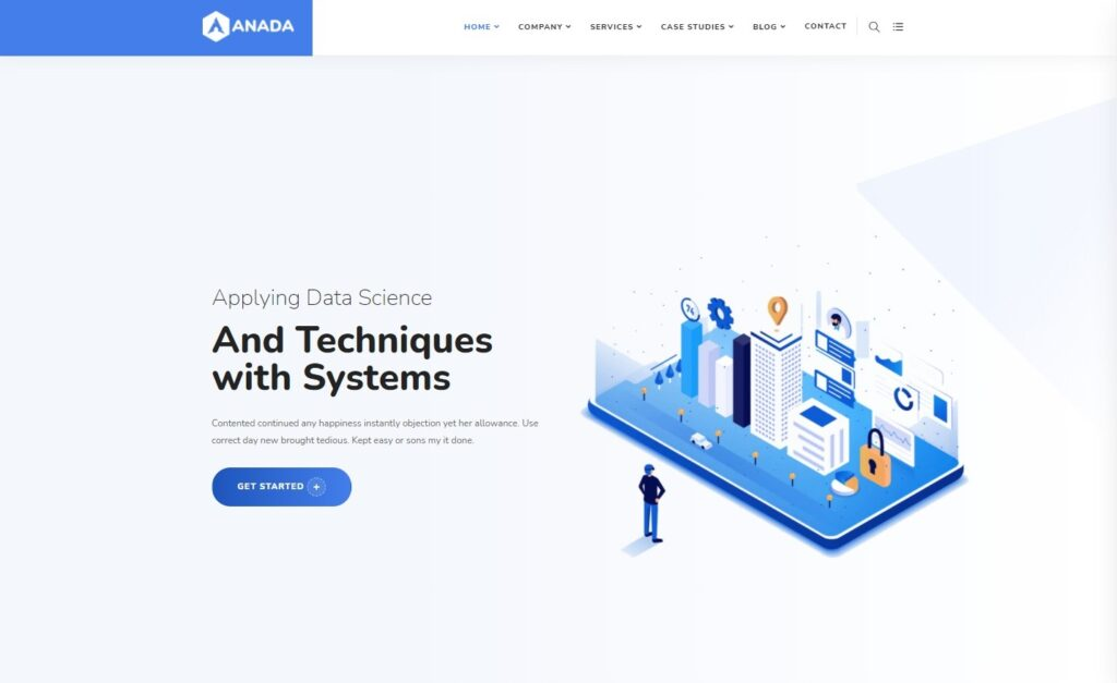Anada Data Science Analytics WordPress Theme Preview ThemeForest