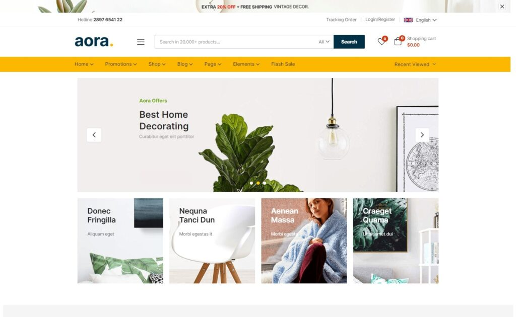 Aora Busy Little eCommerce WordPress Theme