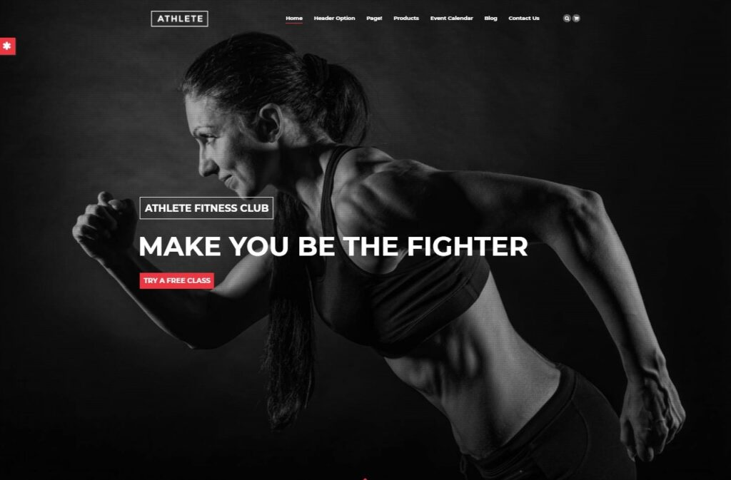 Athlete Fitness Gym and Sport WordPress Theme Preview ThemeForest