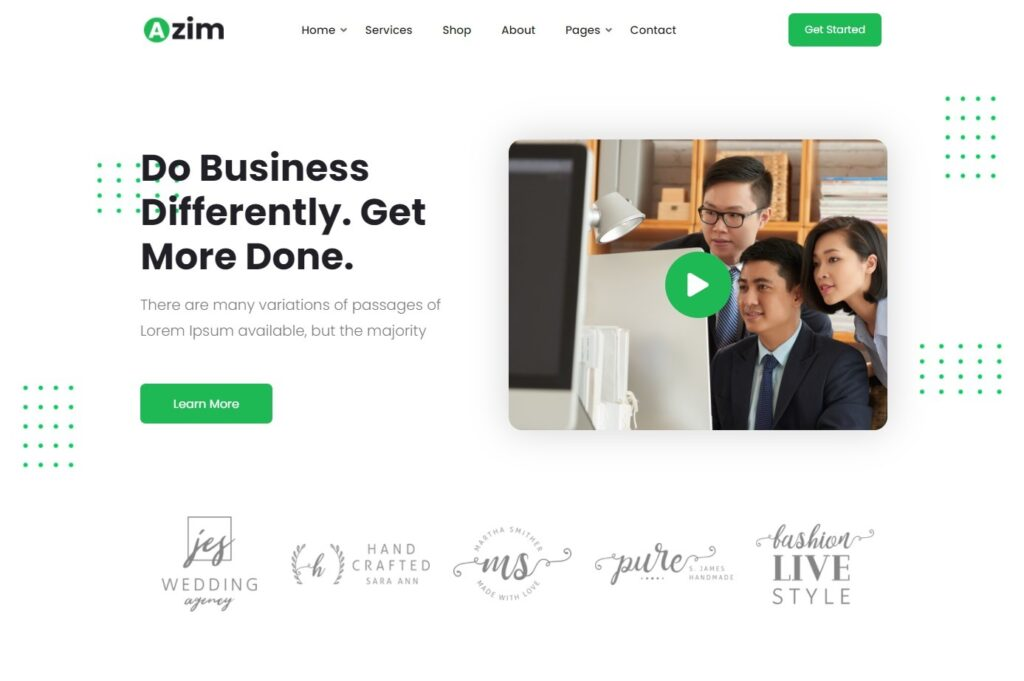 Azim – Multi Purpose WordPress Theme