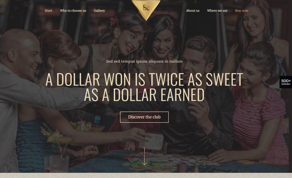 BeCasino – BeTheme Multipurpose Theme for Casinos and Gambling