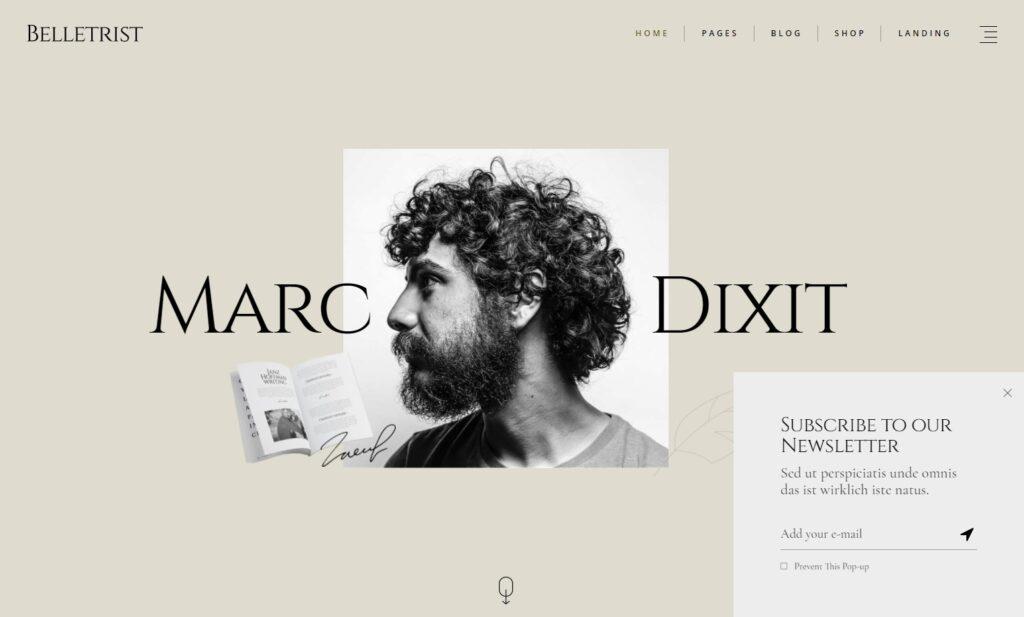 Belletrist – Blog Theme for Writers