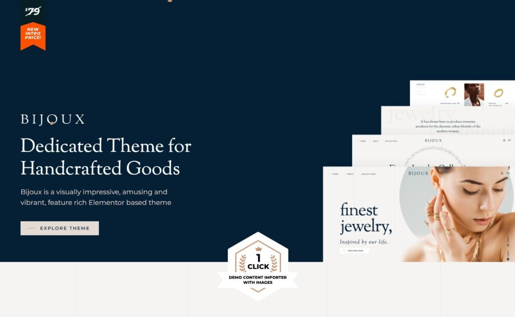 Bijoux WordPress Theme for Handmade Jewelry