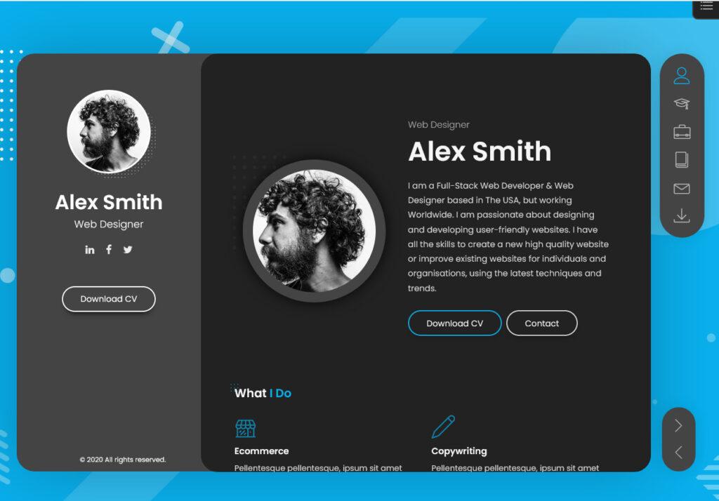 BreezyCV WordPress Theme Best Resume CV vCard Portfolio WordPress Theme