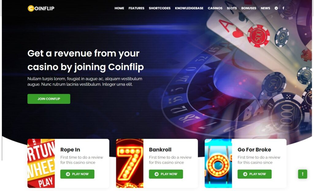 Coinflip Online Bookmakers WordPress Theme