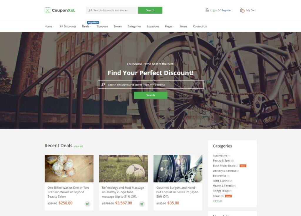 CouponXXL – Deals Coupons Discounts WordPress Theme