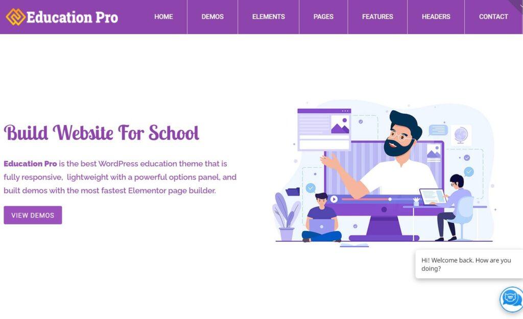 Education Pro Best Education LMS WordPress Theme