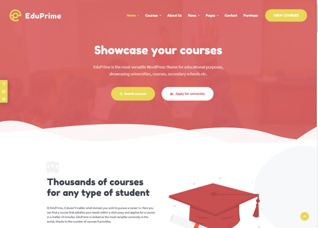 Eduprime – Education Theme Learning Management System for WordPress