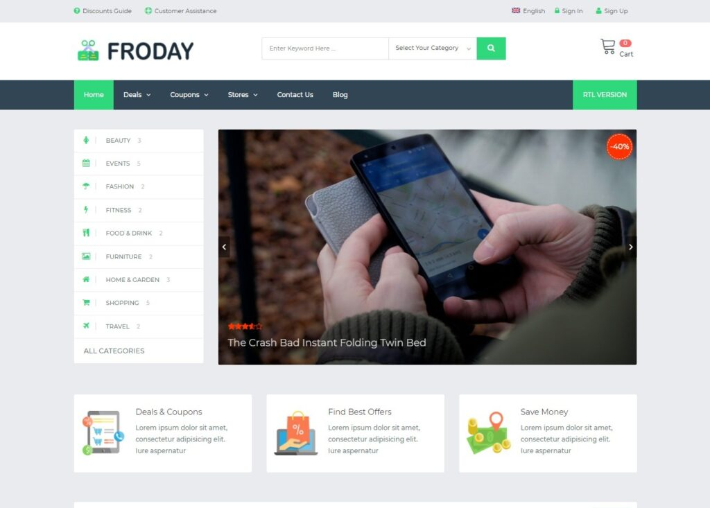 FRODAY – Coupons and Deals Theme – KlbTheme