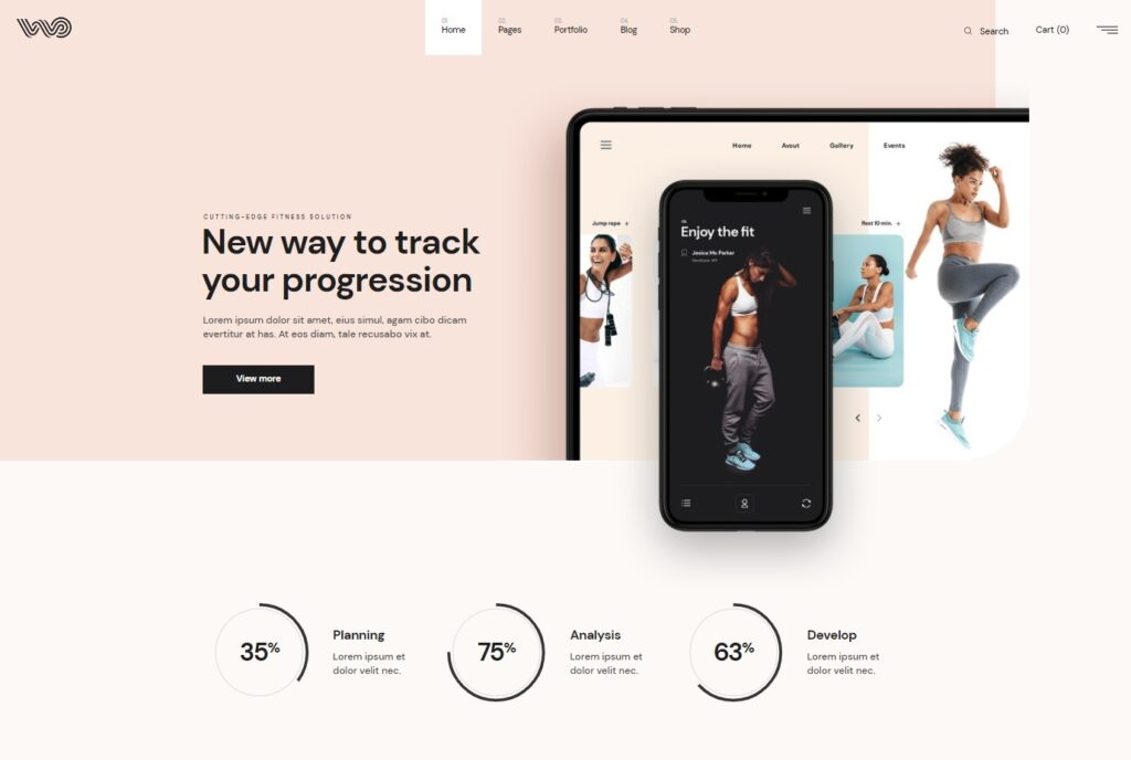 Fitness Tracker App WordPress Theme