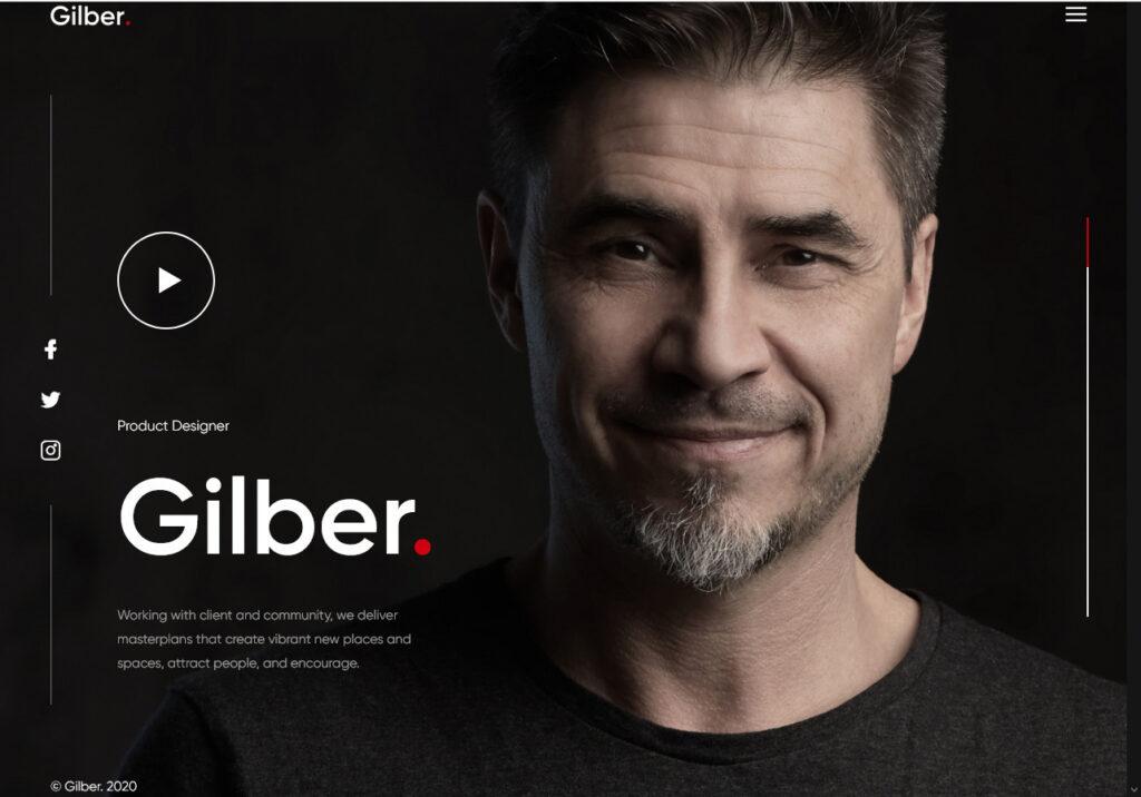 Gilber Personal CV Resume or vCard Theme